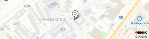 Контакт на карте Якутска