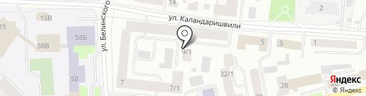 Каландаришвили-2005, ТСЖ на карте Якутска