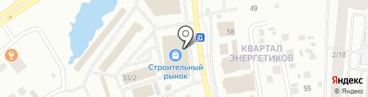 Компас на карте Якутска