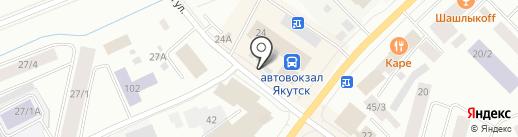 РосДеньги на карте Якутска