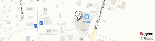 Азия на карте Якутска
