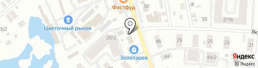 Линия жизни на карте Якутска