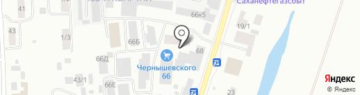 Алеша на карте Якутска