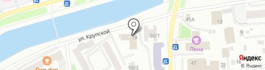 Куб на карте Якутска