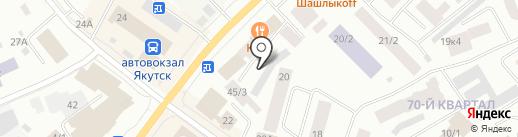 Служба по ремонту стиральных машин на карте Якутска