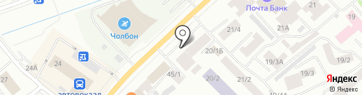 Белый лотос на карте Якутска