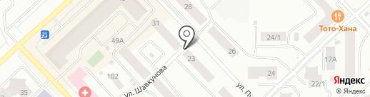 Дабаан на карте Якутска