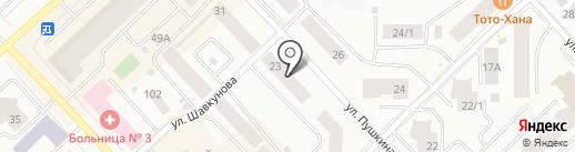 Аламай на карте Якутска