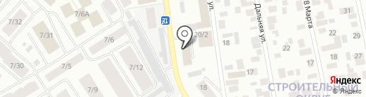 Табакерка на карте Якутска