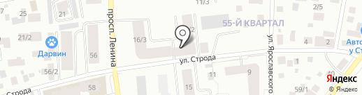 Смайл на карте Якутска