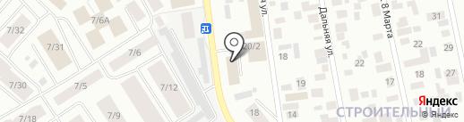 Магазин по продаже овощей и фруктов на карте Якутска