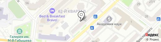 Южные ворота на карте Якутска