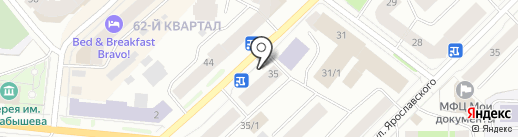 Горпечать на карте Якутска