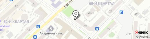 Цифрозайм на карте Якутска