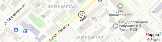 Киоск фастфудной продукции на карте Якутска