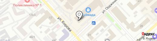 Банкомат, Банк Таатта на карте Якутска