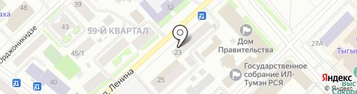 Advexus на карте Якутска
