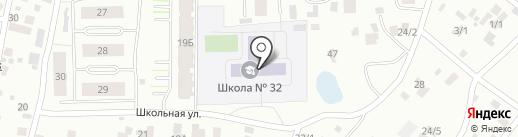 Средняя общеобразовательная школа №32 на карте Якутска