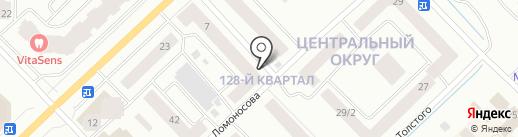 Сарданга на карте Якутска