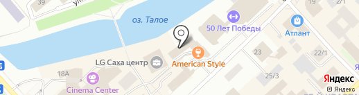 Копирус на карте Якутска