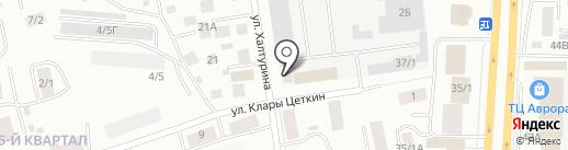 Саха-Аква Юник на карте Якутска