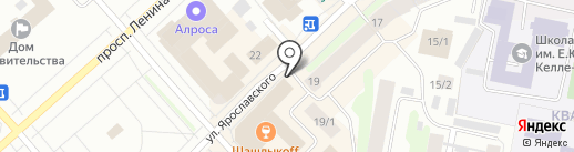 Магазин текстиля на карте Якутска