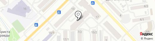 Авангард на карте Якутска