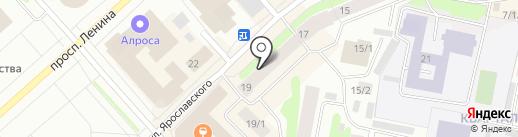 АлмазКредитСервис, СКПК на карте Якутска