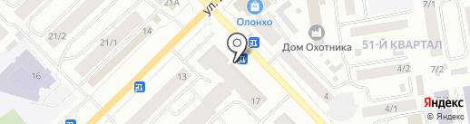 Крылья Якутии на карте Якутска
