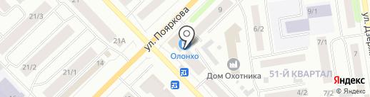 Банкомат, Восточный экспресс банк, ПАО на карте Якутска