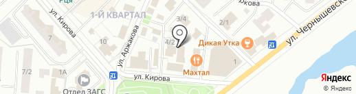 Актив на карте Якутска