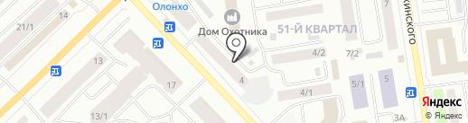 Адвокатский кабинет Романовой А.А. на карте Якутска