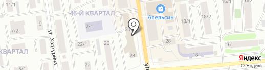 АДК на карте Якутска