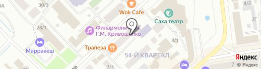 Дизайн на карте Якутска