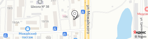 Рослек на карте Якутска