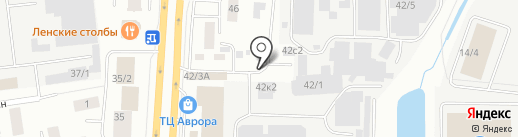 Прага на карте Якутска