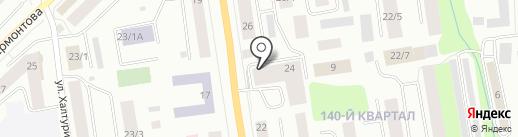 Радуга на карте Якутска