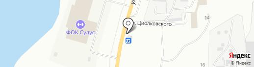 Уряал на карте Якутска