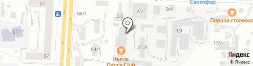 Чистюля на карте Якутска