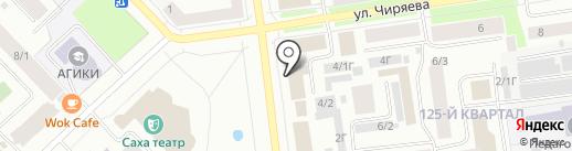 Отделение почтовой связи на карте Якутска