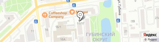 Станица на карте Якутска