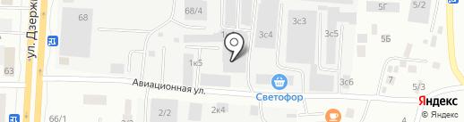 Строй-Двор на карте Якутска