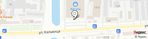 Айгуль на карте Якутска