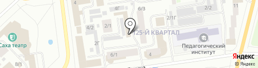Ольга на карте Якутска