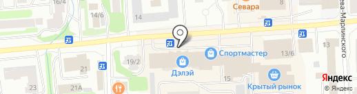 Сорока на карте Якутска