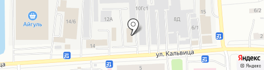 Либер на карте Якутска