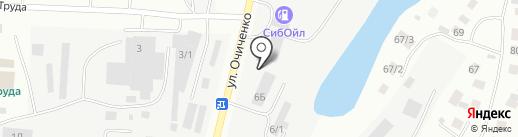 Колесница на карте Якутска