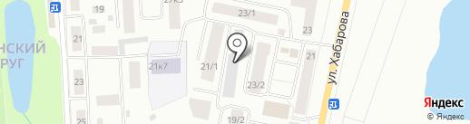 Марал на карте Якутска