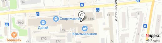 Магазин белья и домашней одежды на карте Якутска