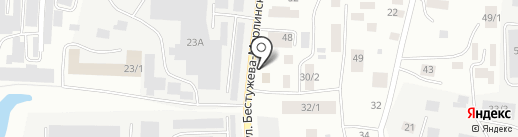 Служба заказа легкового транспорта г. Якутска на карте Якутска